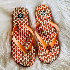 Tory Burch Orange flip flops